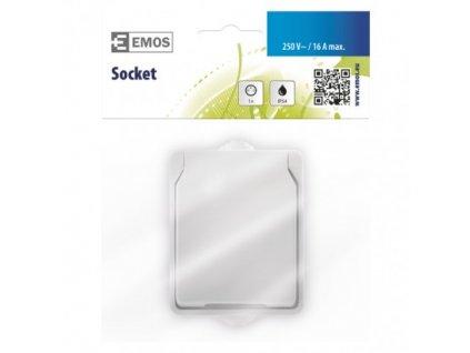 EMOS Zásuvka nástěnná, bílá, IP54 A1397.2