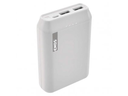 Powerbanka EMOS Alpha 10, 10000 mAh, bílá + kabel USB-C