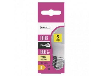 EMOS Lighting LED žárovka Classic Mini Globe 8W E27 teplá bílá ZQ1130
