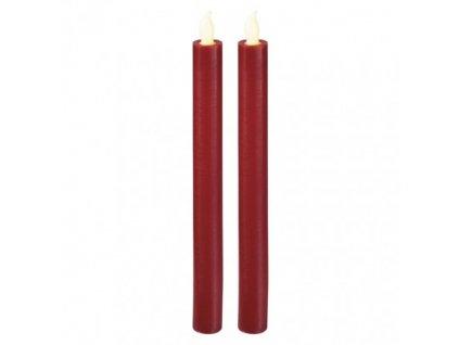 EMOS Lighting LED svíčky, 25cm, metalické červené, 2× AAA, teplá b., 2 ks ZY2268