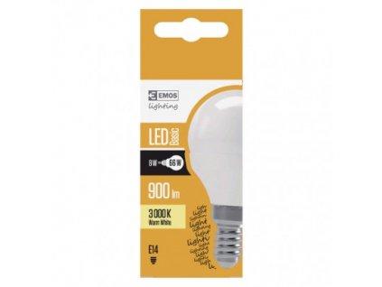 EMOS LED žárovka Basic Mini Globe 8W E14 teplá bílá ZL3911