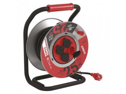EMOS Guma-guma prodluž. kabel, buben kovový – 4z, 25m, 1,5mm2 P084255