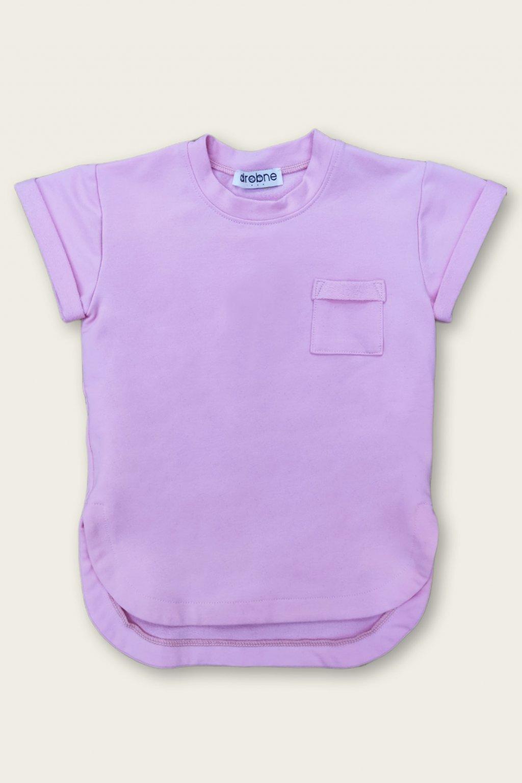 ružové tričko drobne