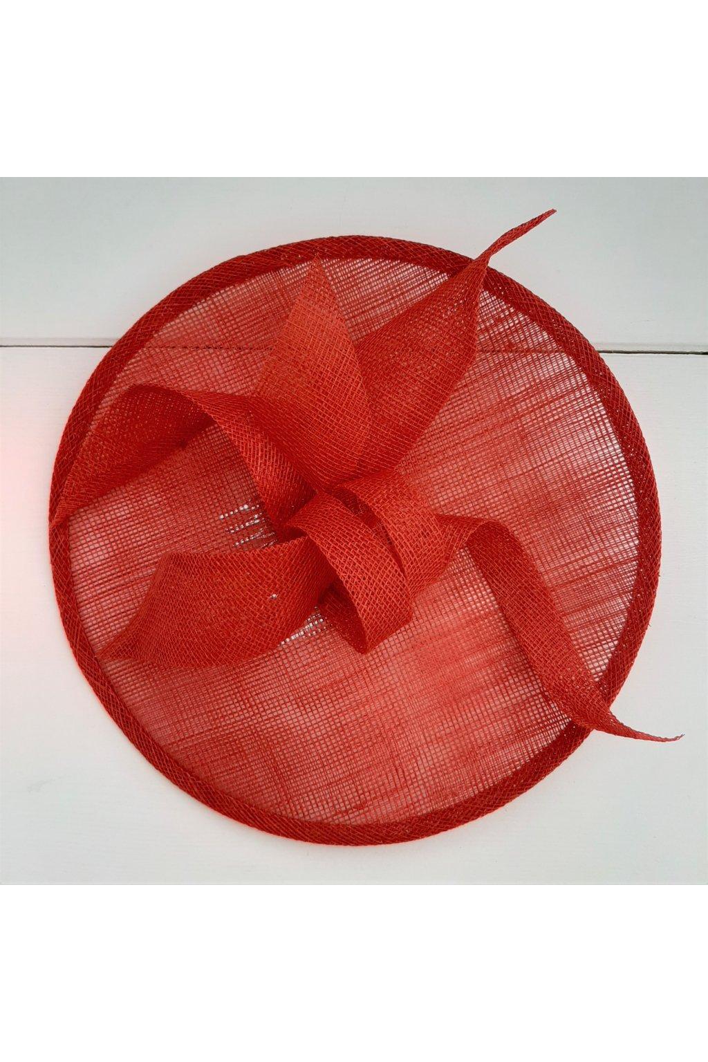 červený fascinátor ALATE