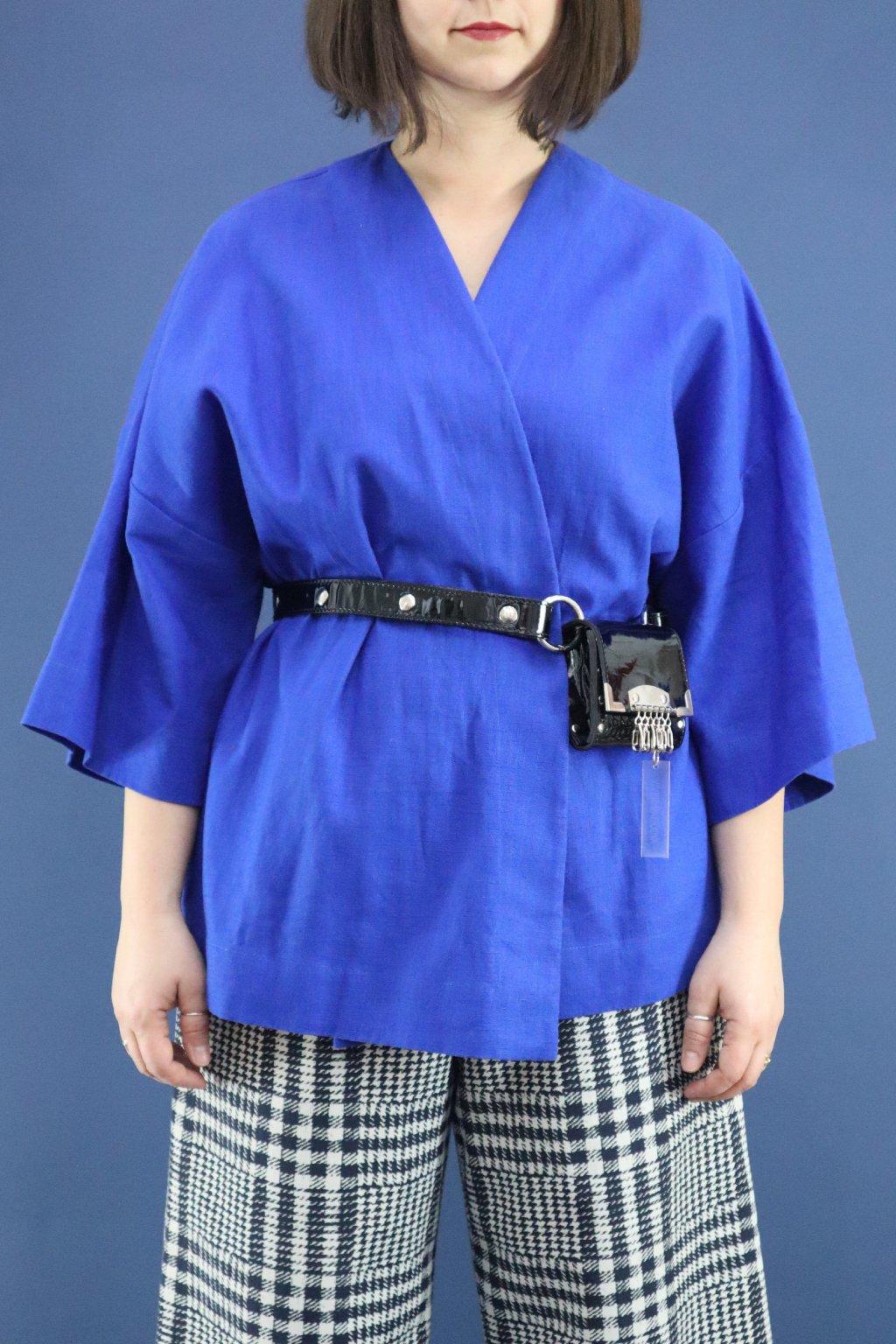 Blueberry mojito_modrý kimono top_drobne SS2020