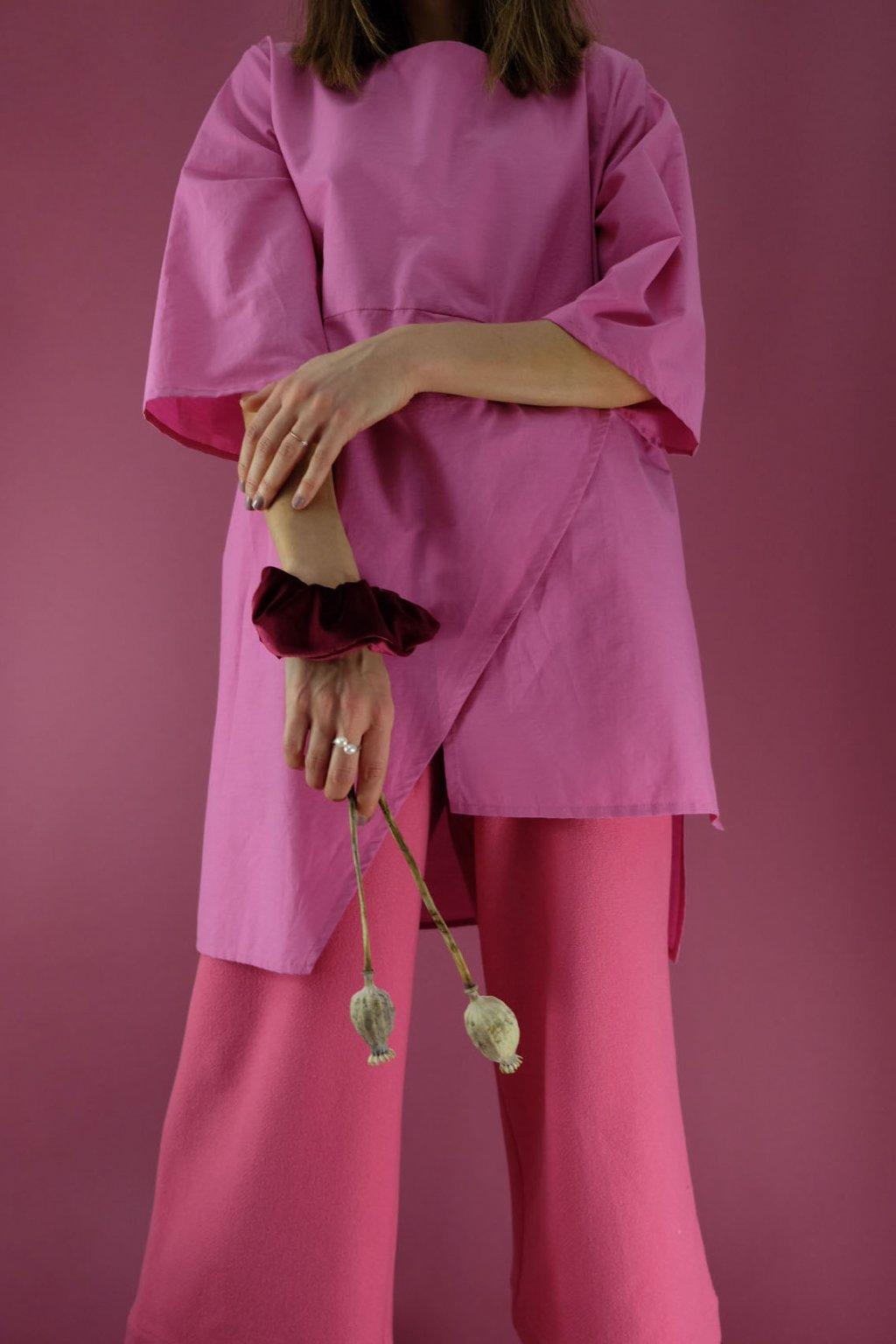 teplákové nohavice ružové drobne fw20/21