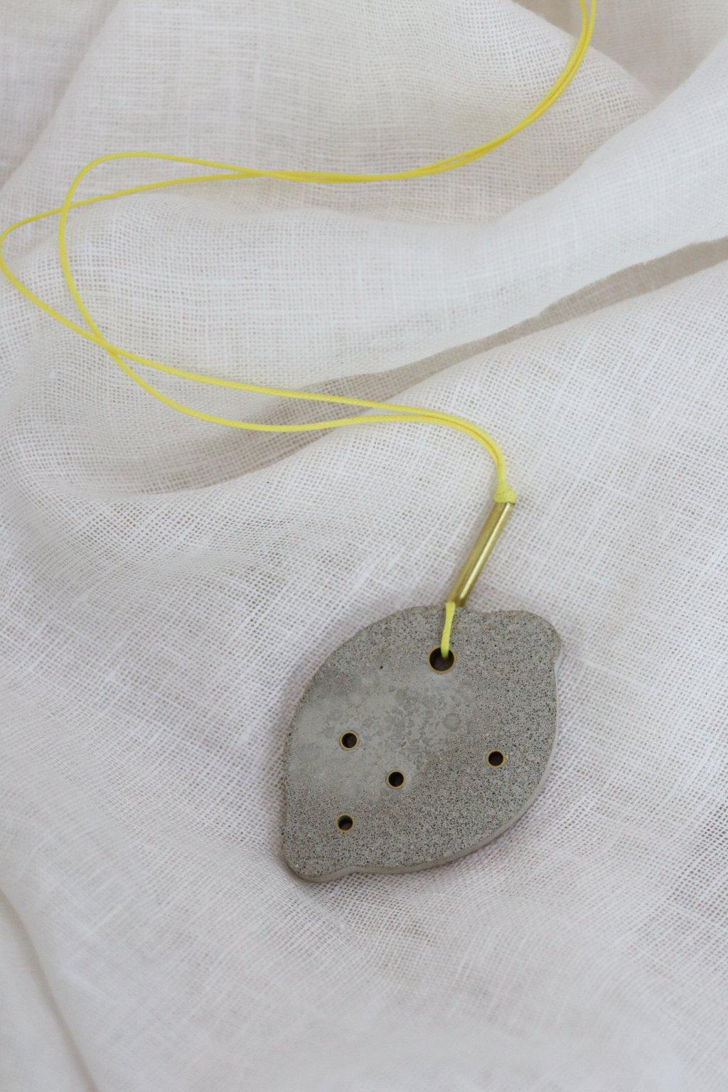 náhrdelník CITRÓN Zuzana Janíček Muranicová