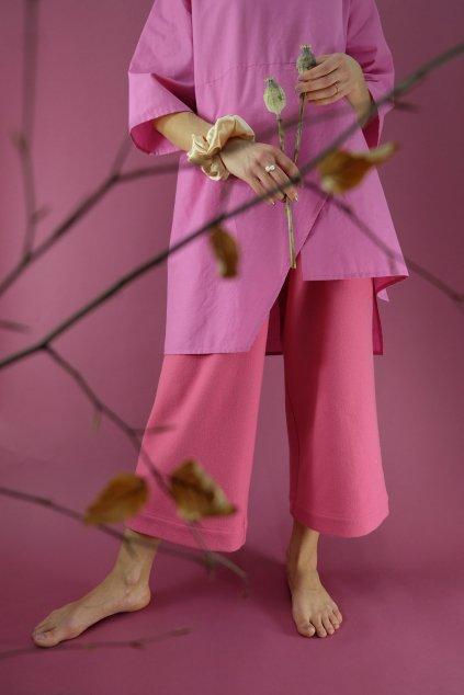 asymetrický top ružový drobne fw20/21