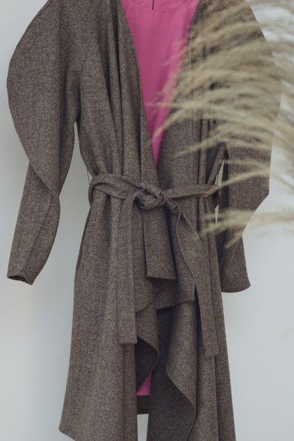 vlnené šaty/plášť drobne