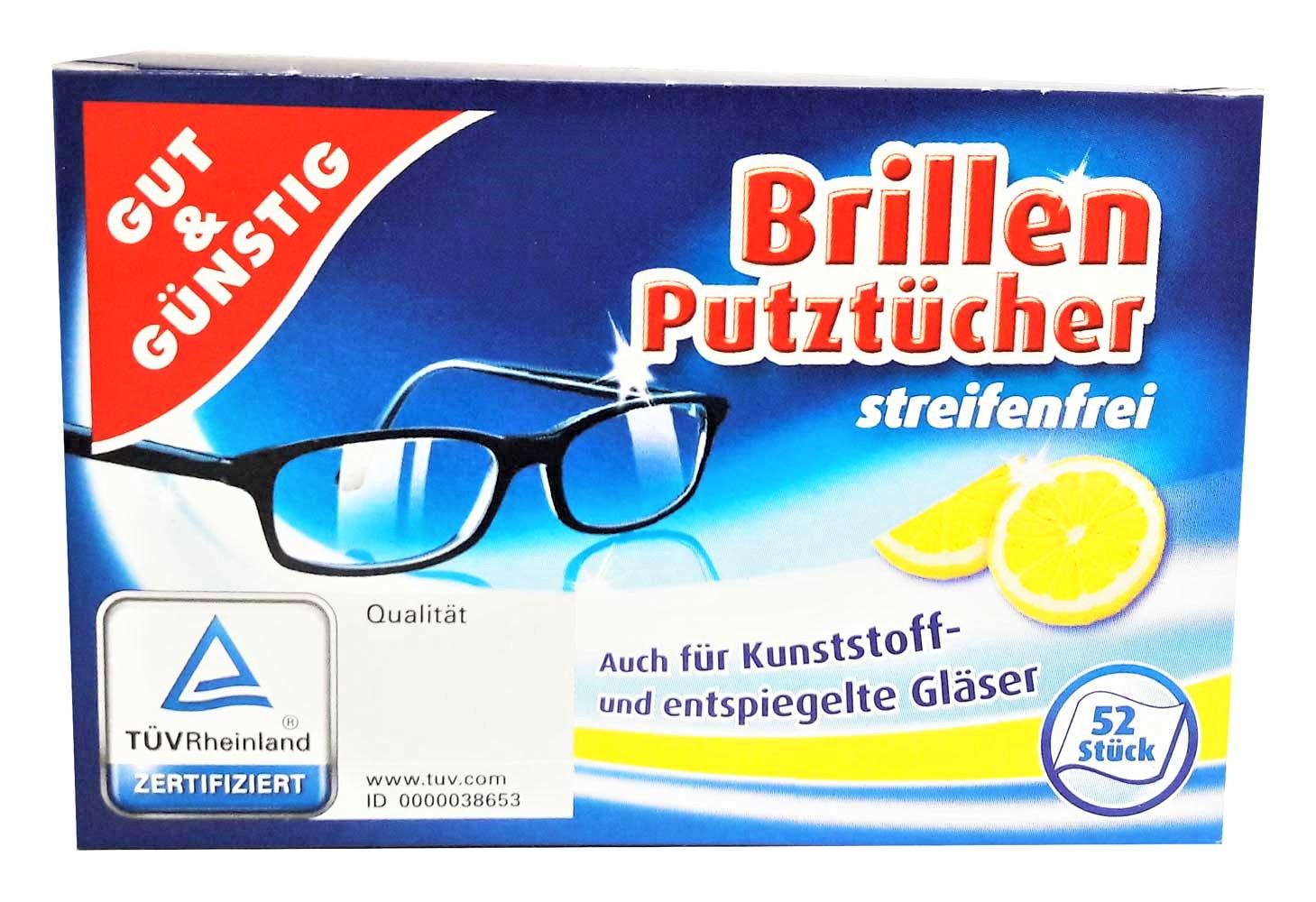 Vlhčené čistiace obrúsky na okuliare