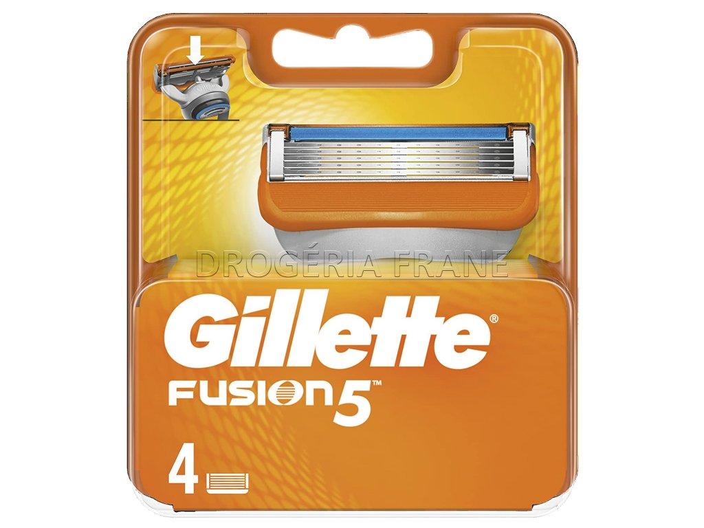 gillette fusion 5 nahradne hlavice na holiaci strojcek 4 ks balenie