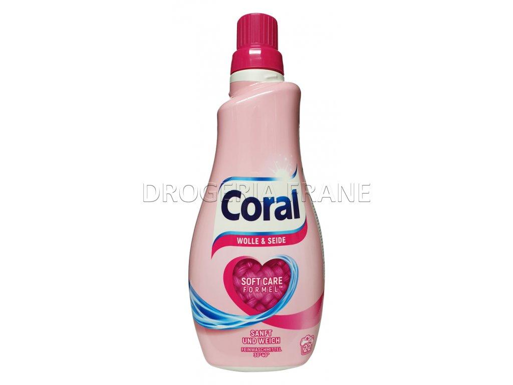 gel na pranie coral na vlnu a hodvab soft care formel 1 1 l 22 prani