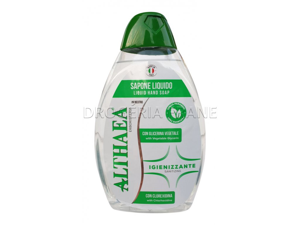 antibakterialne tekute mydlo na ruky althaea igienizzante 650 ml