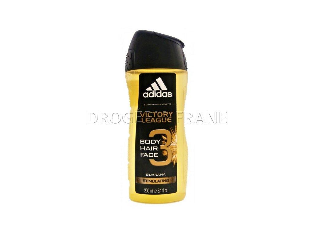 sprchovy gel adidas na telo tvar a vlasy victory league 250 ml