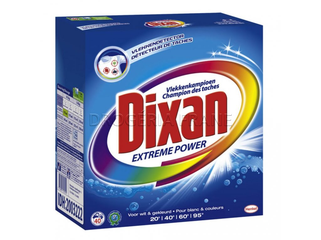 prasok na pranie dixan extreme power 2 6 kg 40 prani