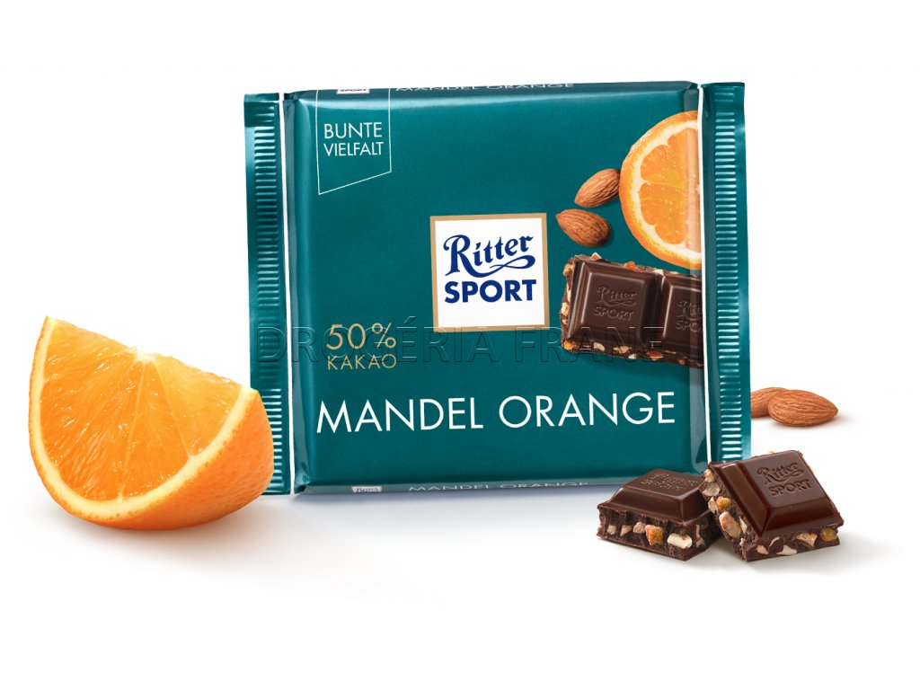 ritter sport mandel orange mliecna cokolada 100 g