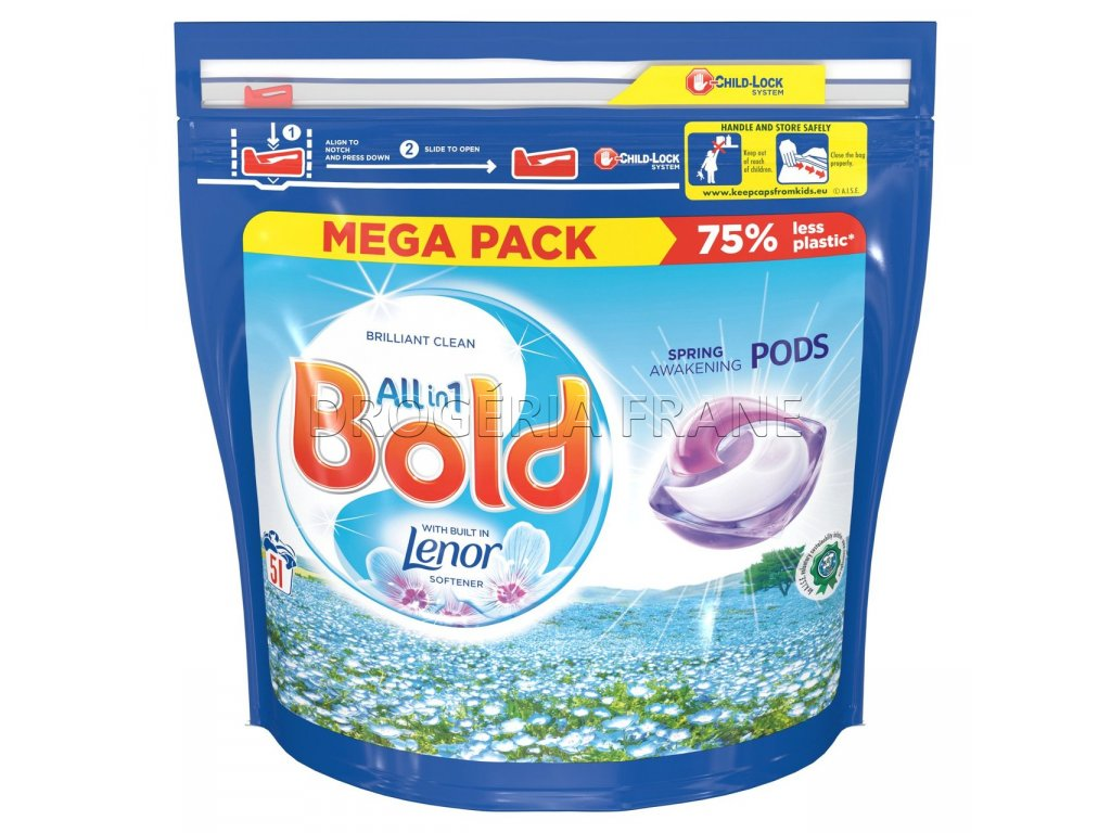 kapsule na pranie bold all in 1 with lenor spring awakening 51 prani
