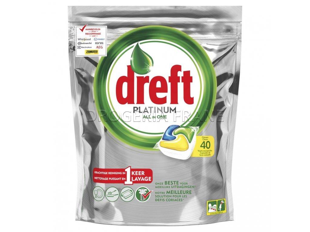 tabletky do umyvacky riadu dreft platinum all in one citron 40 ks