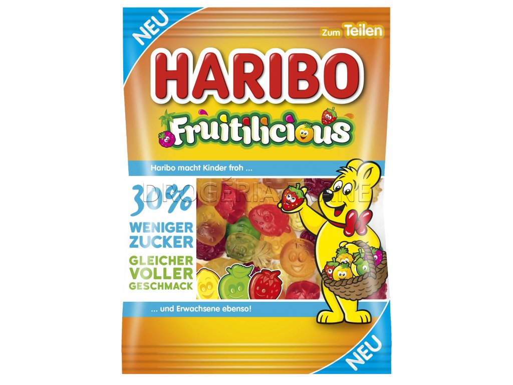 haribo fruitilicious ovocne zele cukriky 160 g