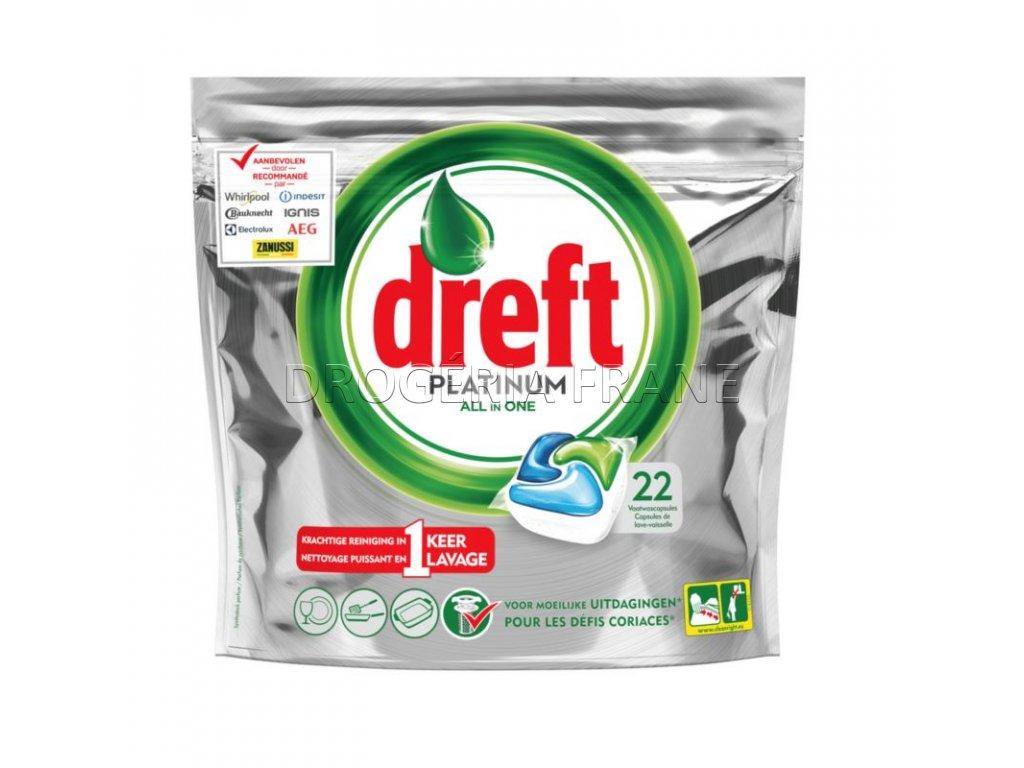 tabletky do umyvacky riadu dreft platinum all in one 22 ks
