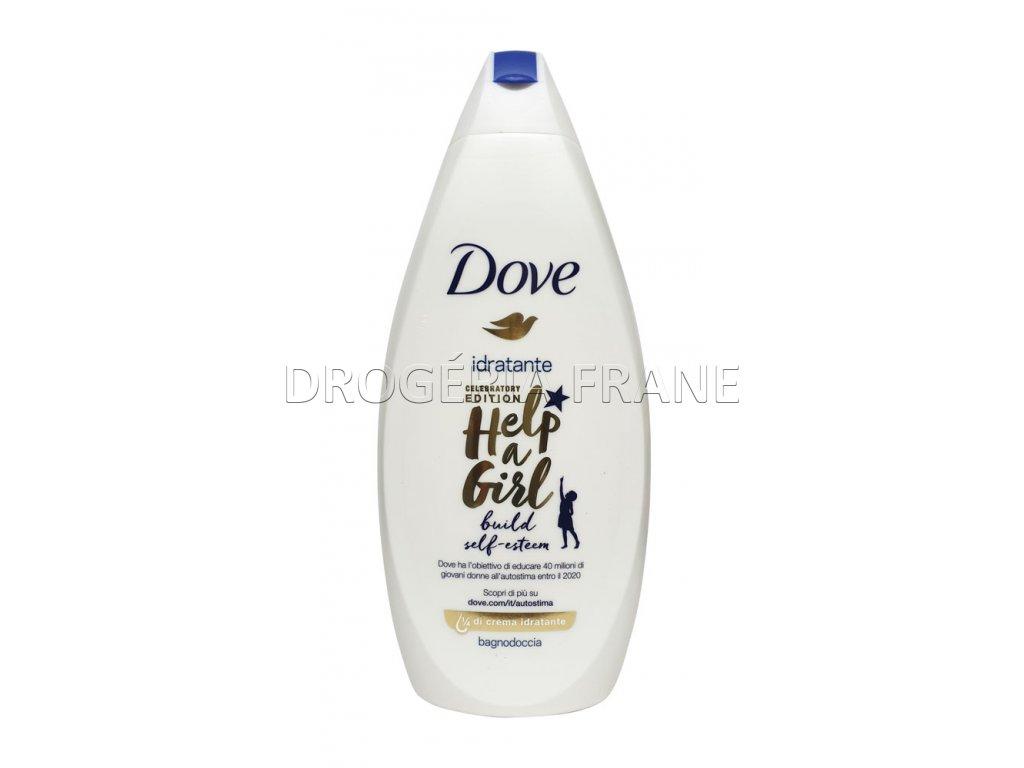 sprchovy gel a pena do kupela dove idratante help a girl 500 ml