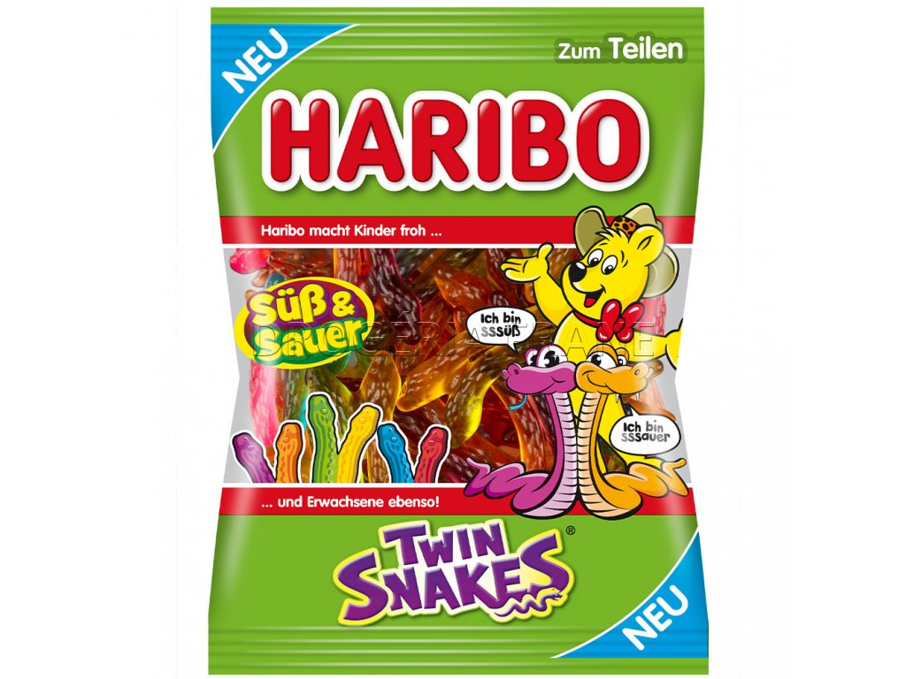 haribo twin snakes suss sauer ovocne zele cukriky 175 g