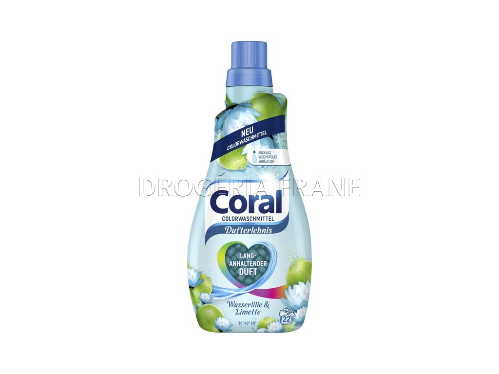 gel na pranie coral color dufterlebnis wasserlilie limette lekno a limetka 1 1 l 22 prani