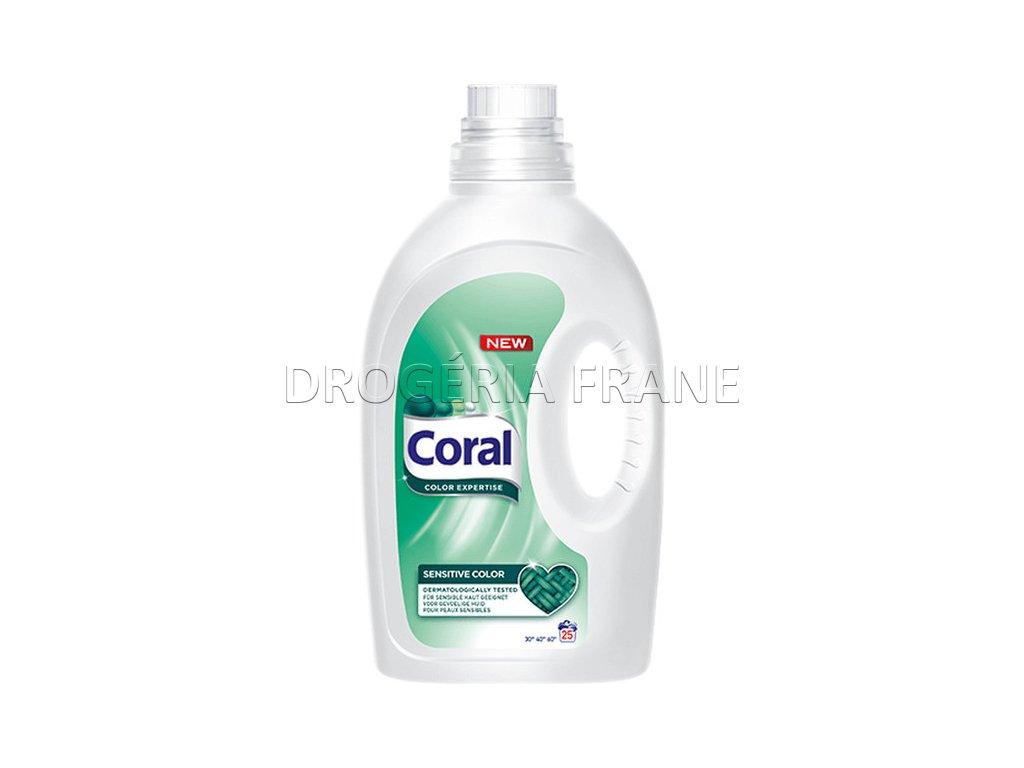 gel na pranie coral sensitive color 1 375 l 25 prani