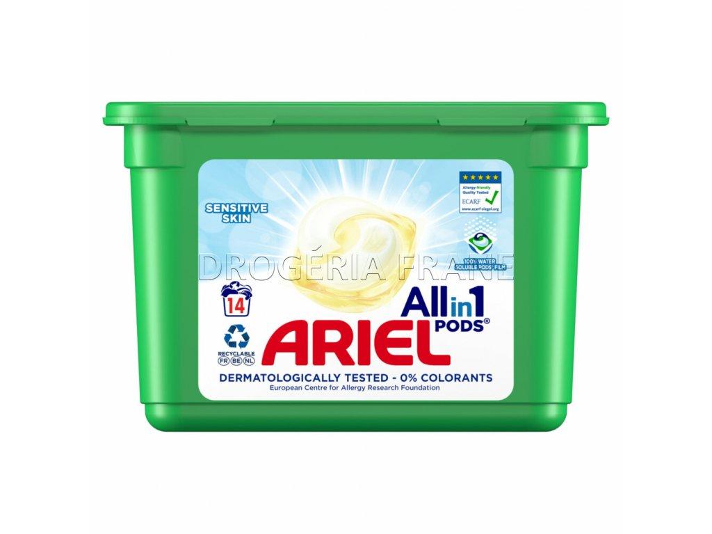 ariel 3 in 1 sensitive kapsule na pranie 16 ks