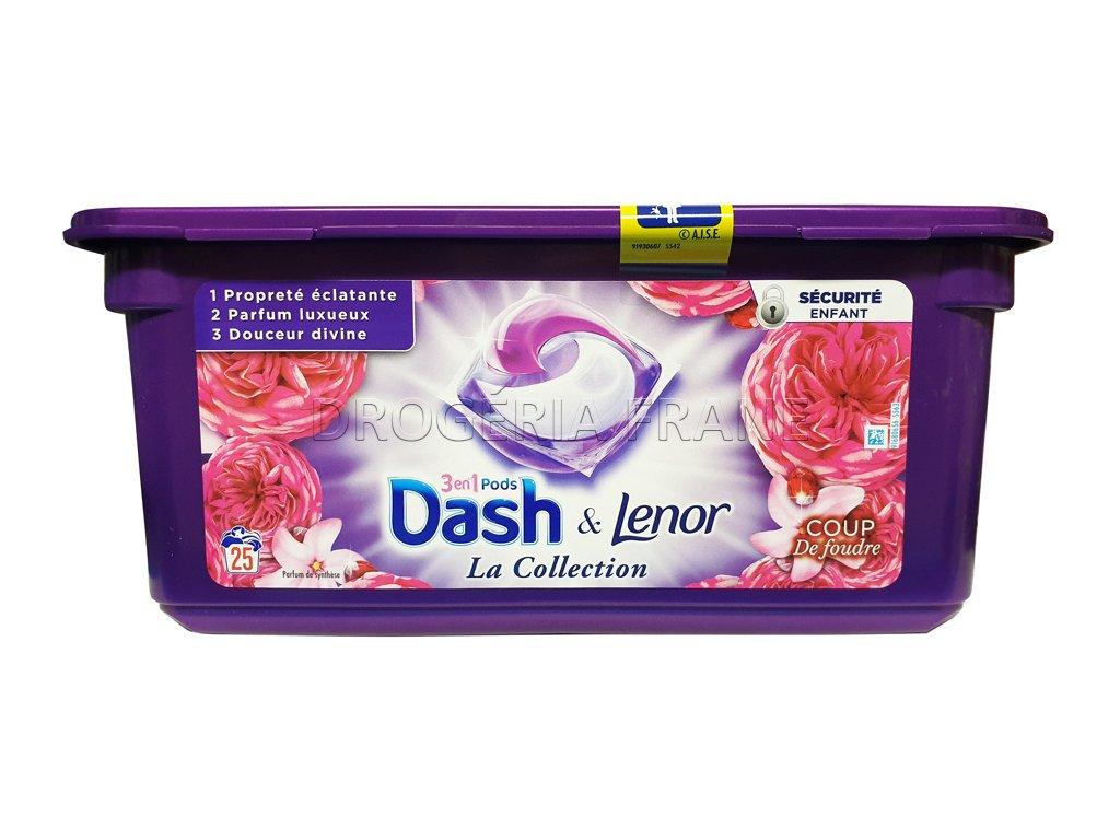 dash lenor la collection 3 v 1 kapsule na pranie 25 ks