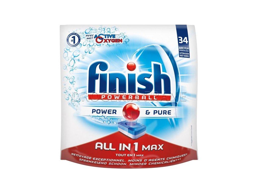 finish powerball power pure all in 1 max citron tabletky do umyvacky riadu 34 ks