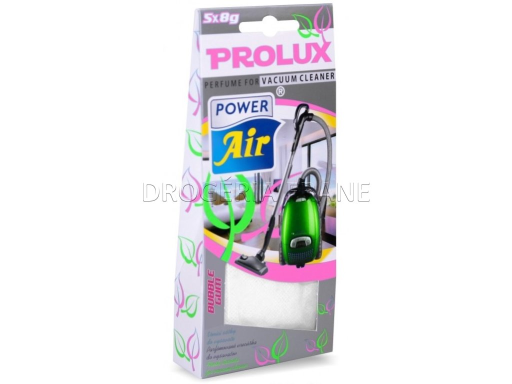 prolux power air bubble gum parfumovane vrecuska do vysavaca 5 x 10 g