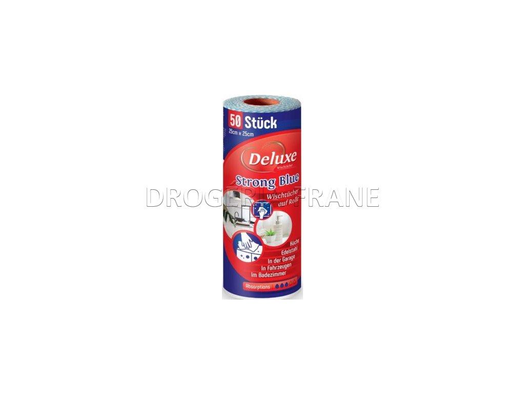 deluxe strong blue mikroutierky wischtuch 50 ks 1 rolka