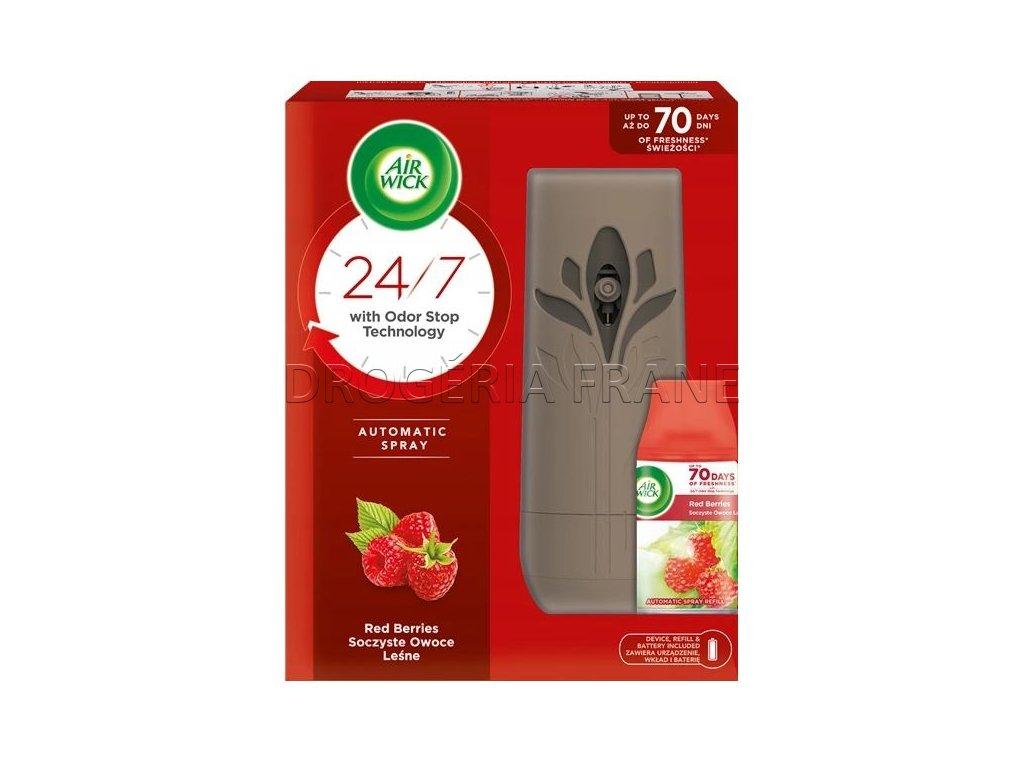 Air Wick strojček + náhradná náplň Smooth Satin & Moon Lily - 250 ml