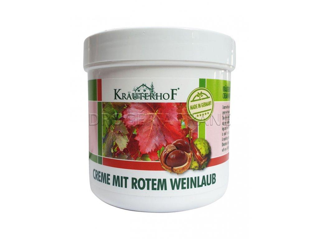 krauterhof creme mit rotem weinlaub krem na krcove zily 250 ml