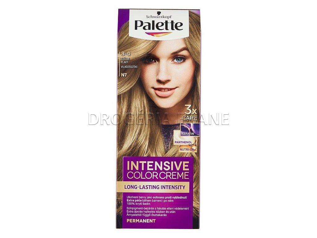 schwarzkopf palette intensive colorcreme 8 0 farba na vlasy n7 svetlo plava