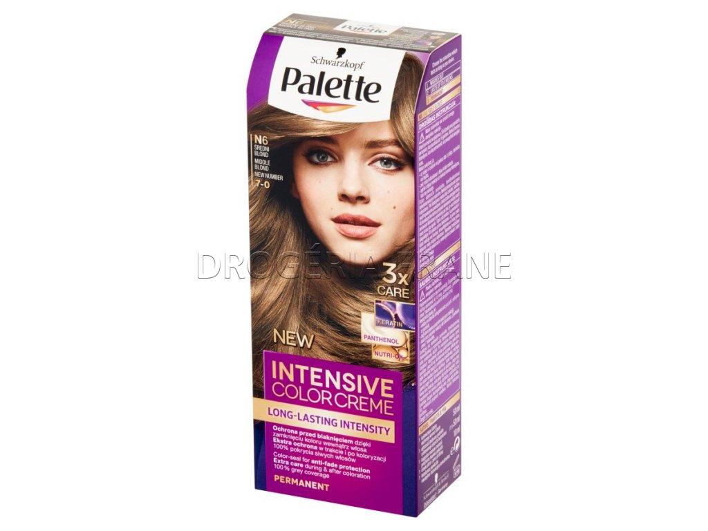 Schwarzkopf Palette Intensive colorcreme 7-0 farba na vlasy N6 - Stredneplavá