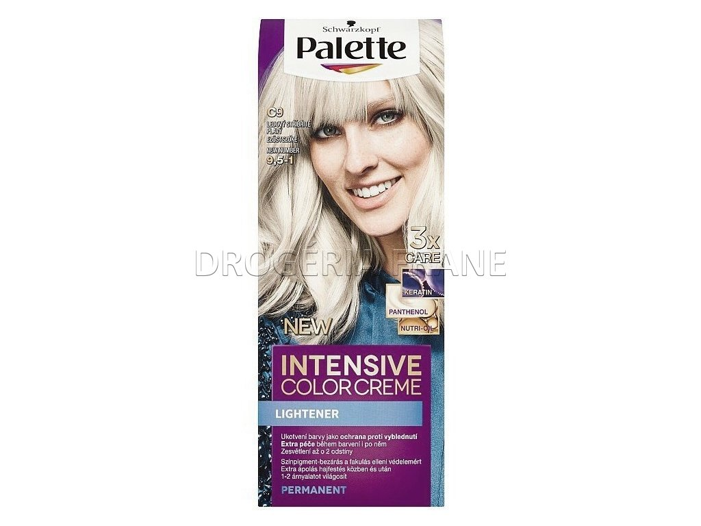 schwarzkopf palette intensive colorcreme 9 5 1 farba na vlasy c9 ladovo striebornoplavy