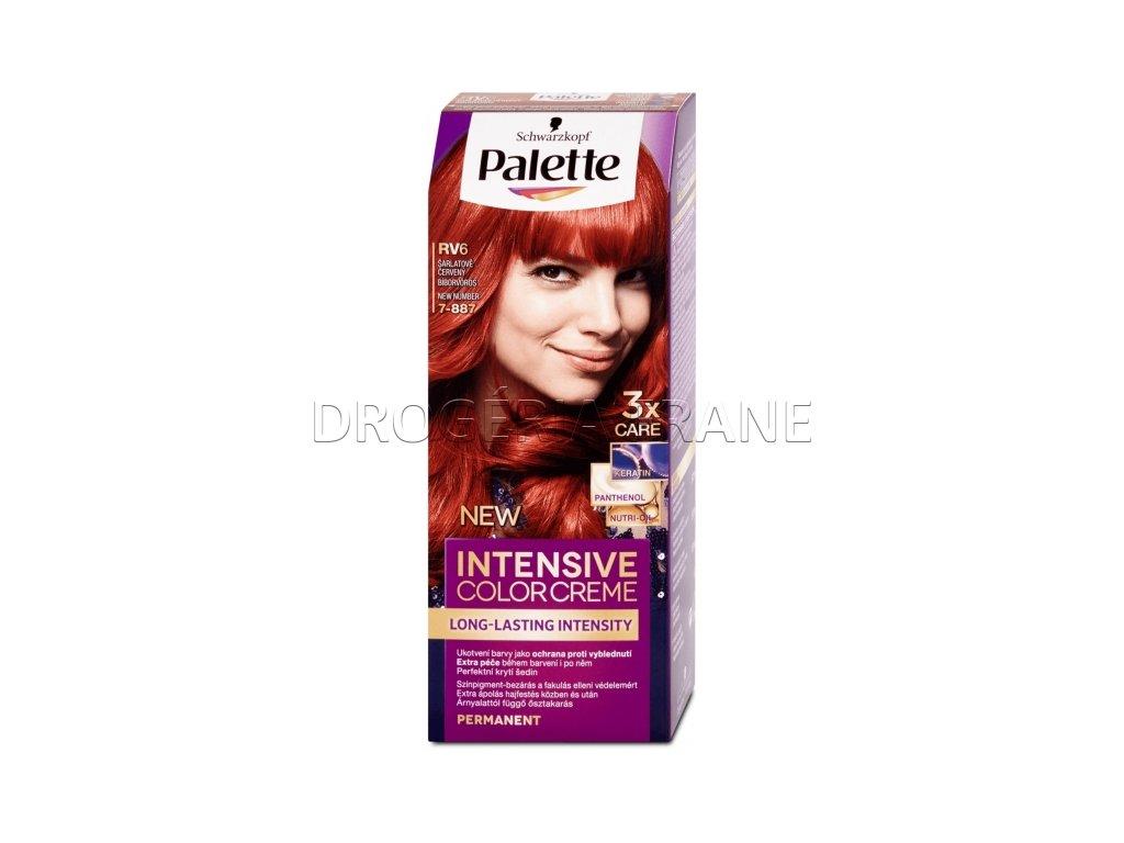 schwarzkopf palette intensive colorcreme 7 887 farba na vlasy rv6 sarlatovocerveny