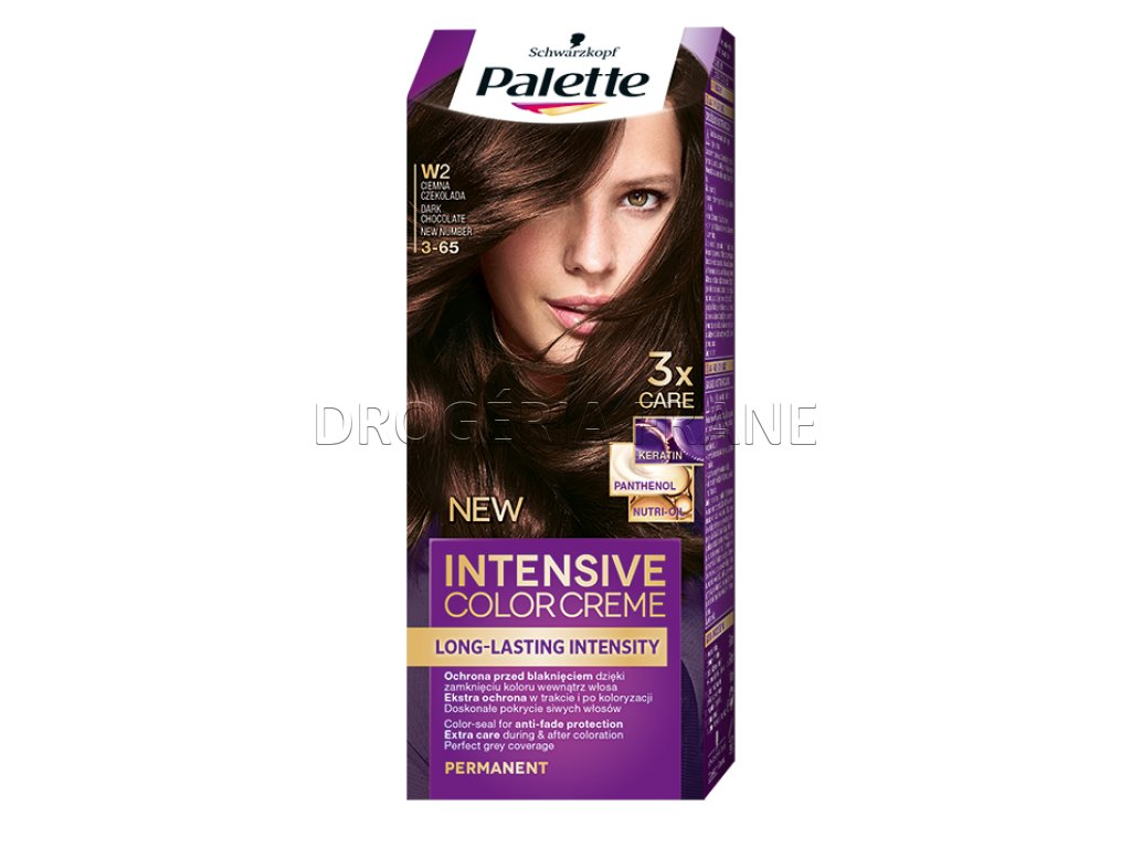 schwarzkopf palette intensive colorcreme 3 65 farba na vlasy w2 tmava cokoladova