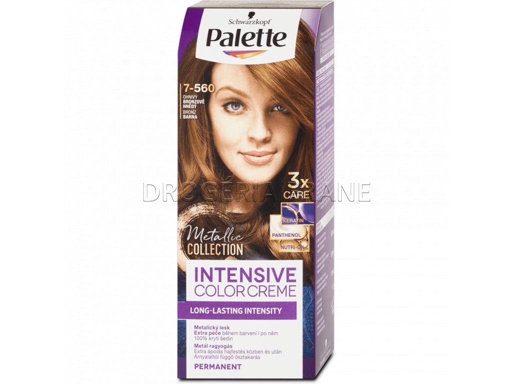schwarzkopf palette intensive colorcreme 7 560 farba na vlasy ohniva bronzovohneda