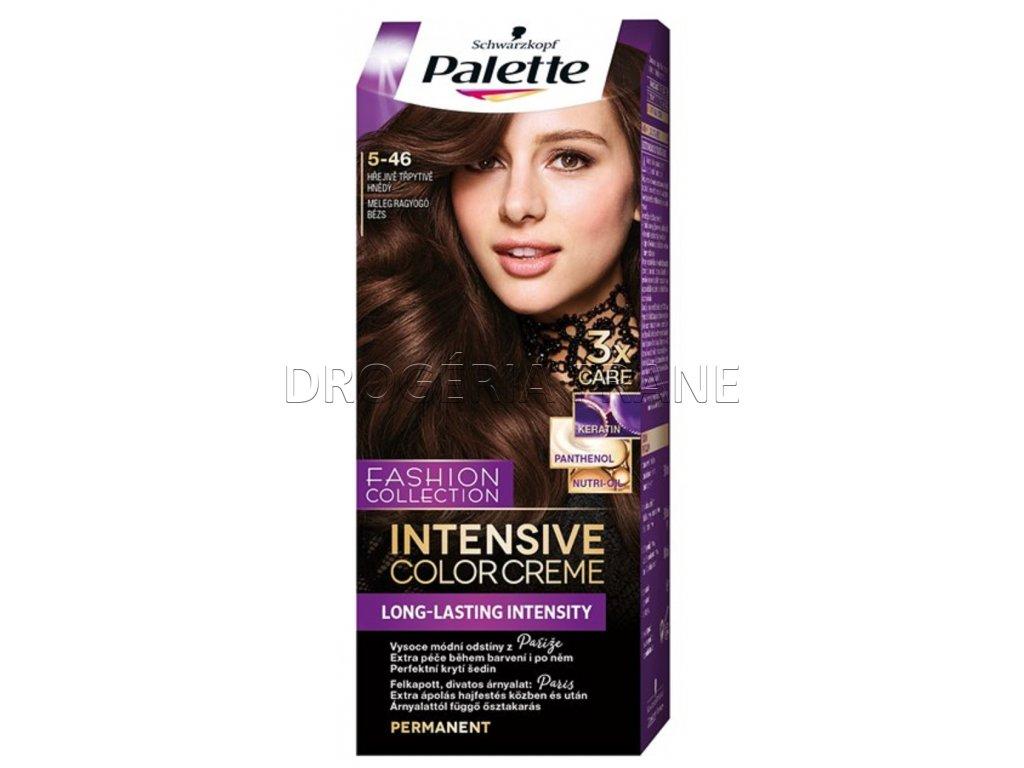schwarzkopf palette intensive colorcreme 5 46 farba na vlasy hrejiva leskla hneda.