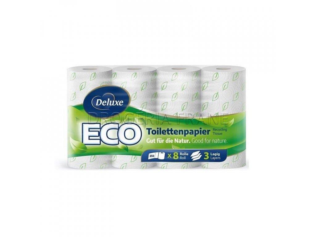 deluxe eco 3 vrstvovy toaletny papier 8 ks