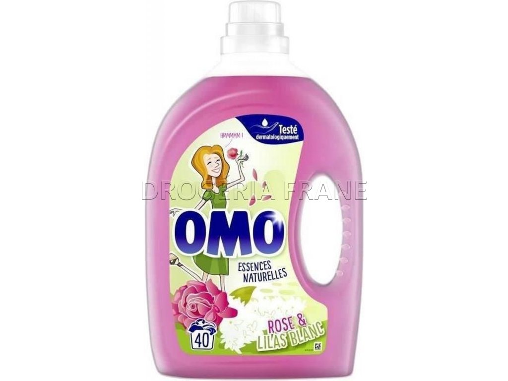 omo essences natturelles rose lilas blanc gel na pranie 2 l 40 prani