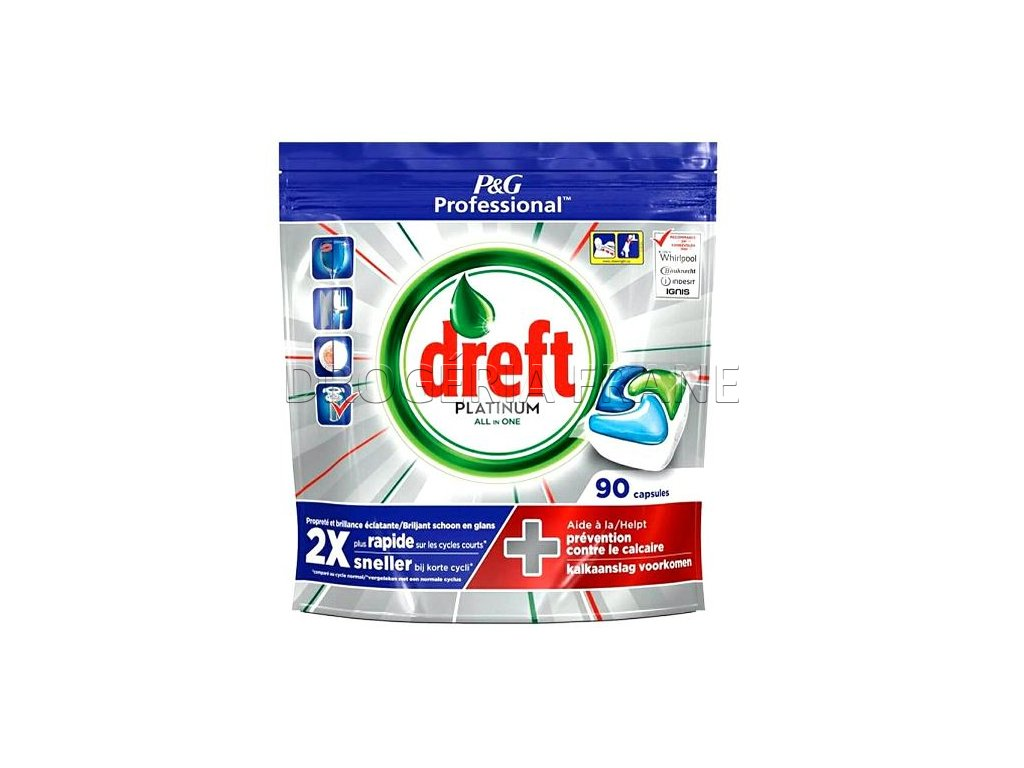 tabletky do umyvacky riadu dreft platinum all in one 90 ks