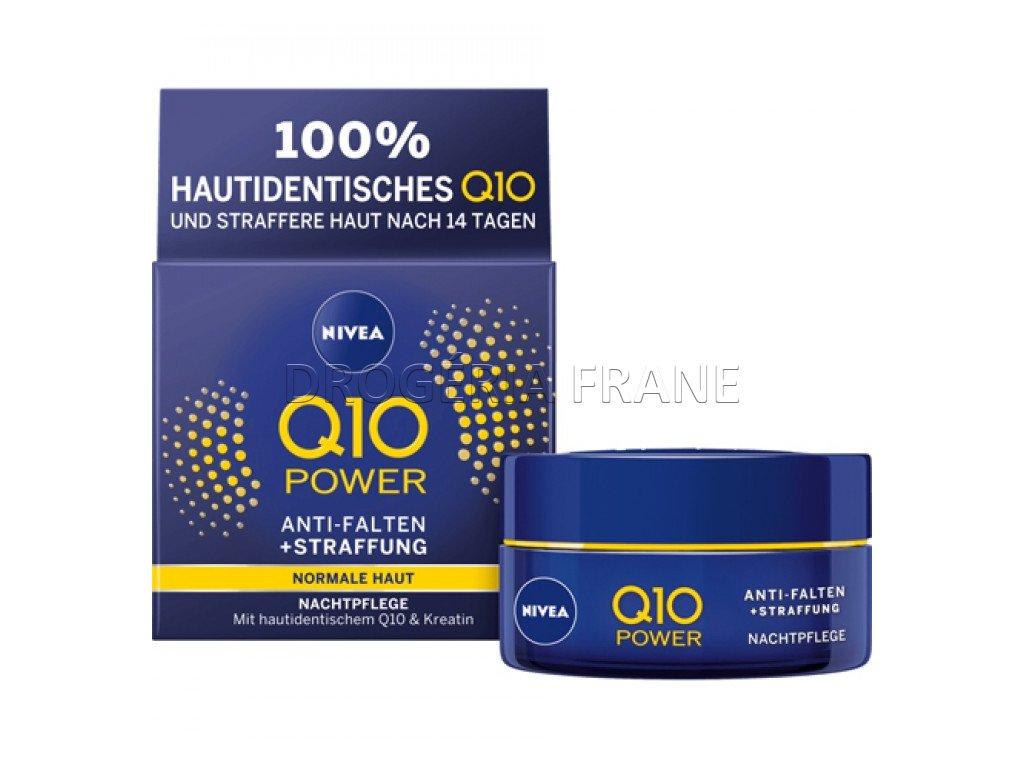 nivea q10 power anti falten straffung nocny krem na tvar proti vraskam 50 ml