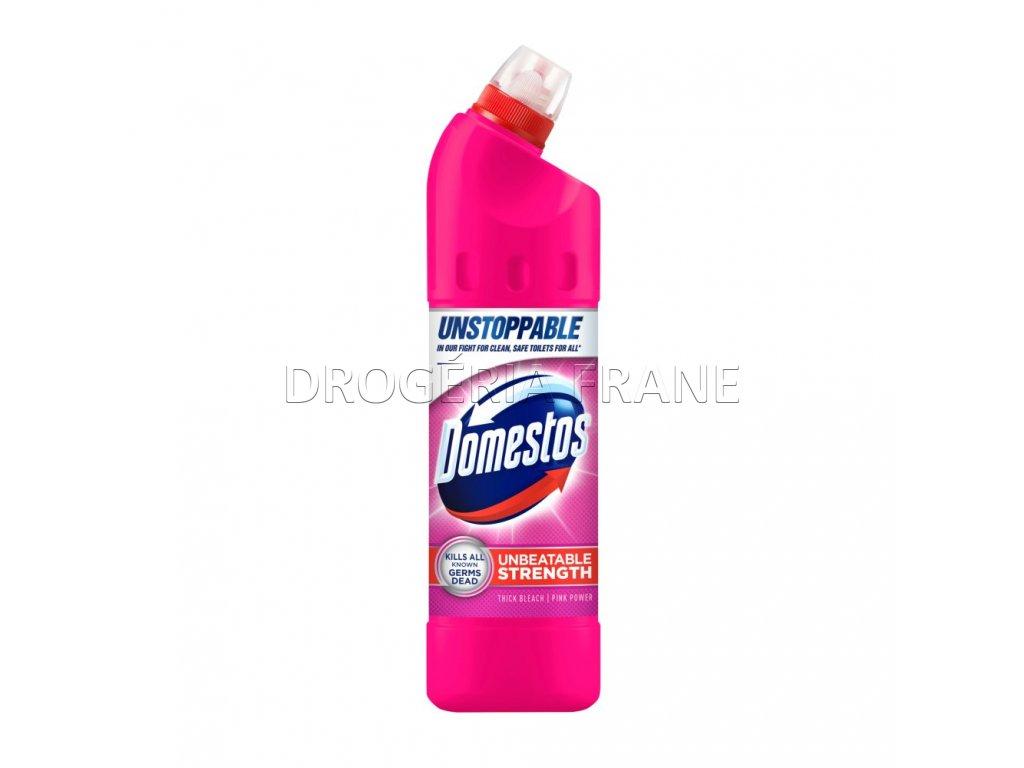 domestos unbeatable strength wc gel ruzovy 750 ml