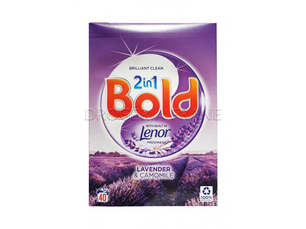 bold 2 en 1 lavender camomile prasok na pranie 2 6 kg 40 prani