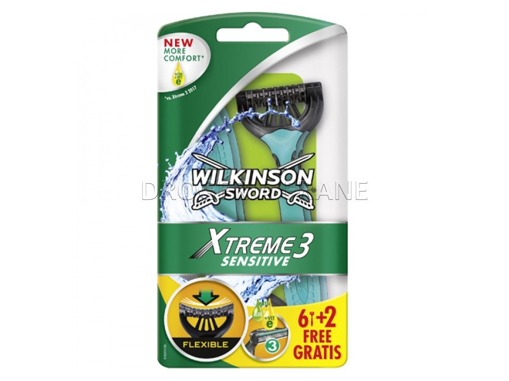 wilkinson sword xtreme 3 sensitive jednorazove ziletky pre zeny 6 2 gratis