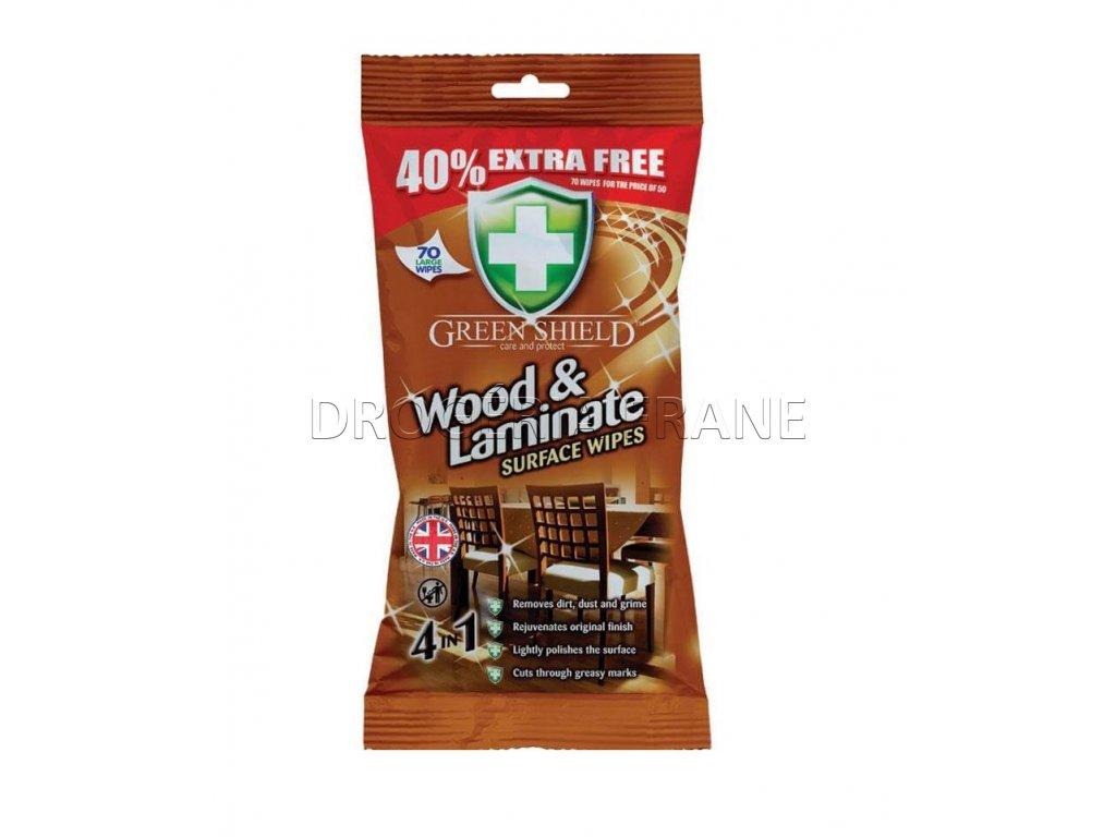 cistiace obrusky na drevo a laminat green shield wood laminate 70 ks